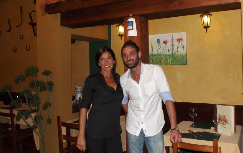 Yosi y Aldo, en la Trattoria D'Aldo en Gijón