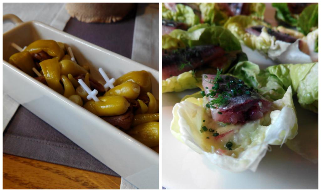 Gildas con anchoas y ensalada de sardinas de D'Origo Astur