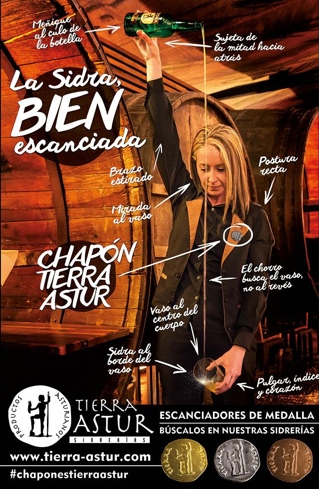 Eva Cayarga en uno de los carteles promocionales de los Chapones de Tierra Astur