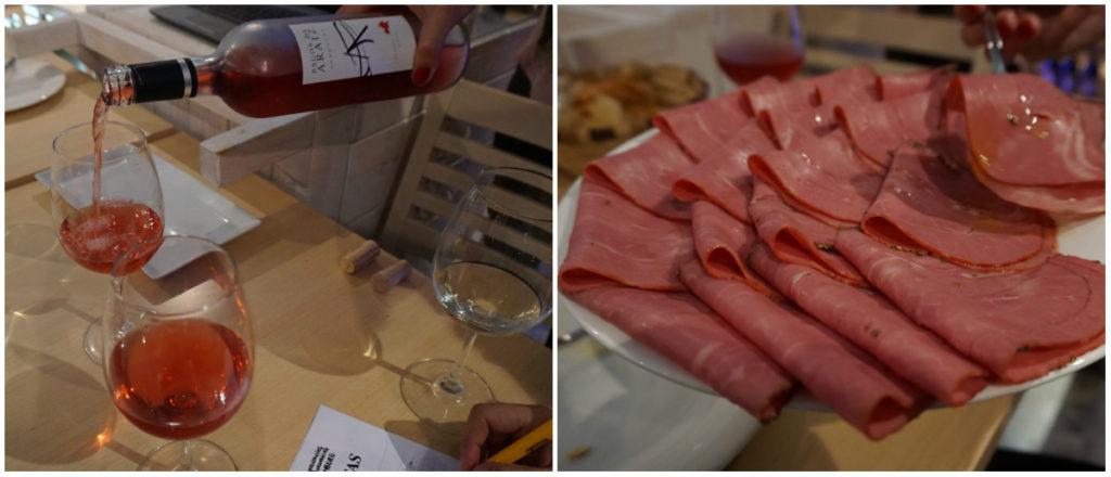 Pagos de Aráiz 2015 y pastrami con aceite picual